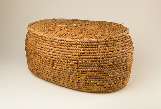 Large Oval Storage Basket | Egypt, New Kingdom, early Dynasty 18, reign of Thutmose II, ca. 1492-1473 B.C. From Thebes, Sheikh Abd el-Qurna, Tomb of Hatnefer and Ramose