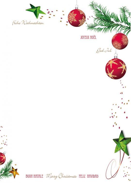24 Dezember Briefpapier Weihnachten Briefbogen Papier