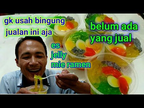 Ide Bisnis Wow Cara Membuat Es Jelly Mie Youtube Jelly Make It Yourself Ides
