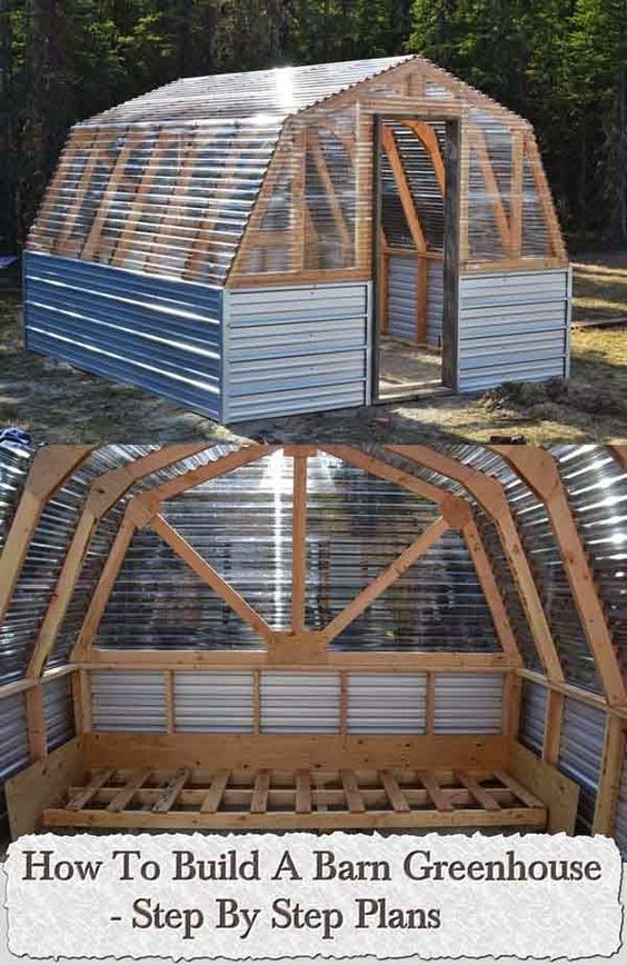 Greenhouses how to build and step by step on pinterest for Diy greenhouse plans free