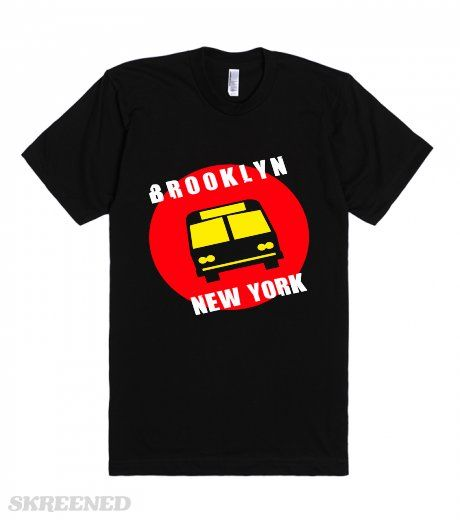 Brooklyn is the most populous of New York City's five boroughs, with about 2.6 million people. It is geographically adjacent to the borough of Queens at the western end of Long Island. Printed on American Apparel Unisex Fitted Tee