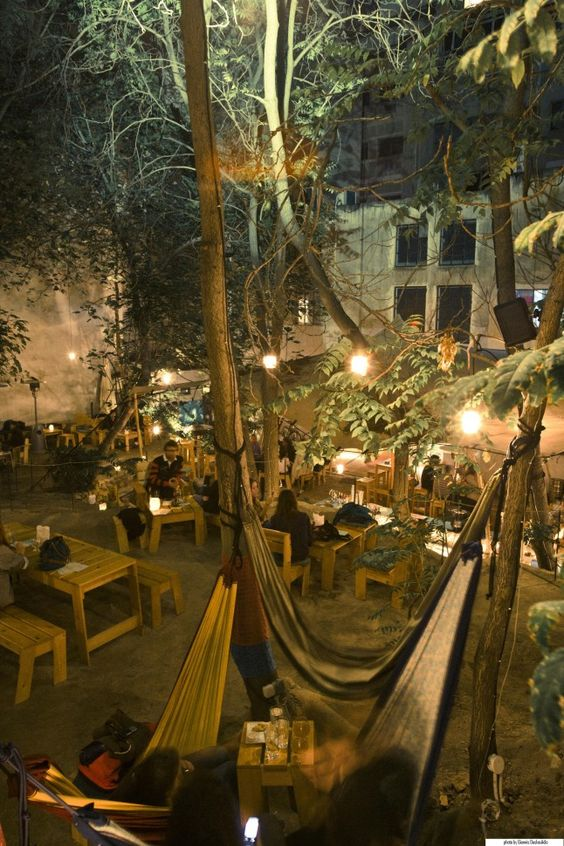 SIX D.O.G.S.- cool bar, club, with a nice garden, just a lovely place to hang around,right in the center of Athens