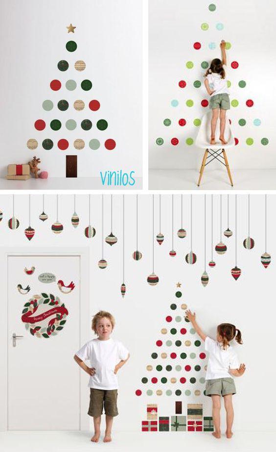como hacer arbol de navidad de pared buscar con google