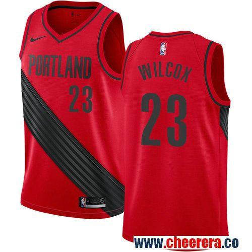 Men S Portland Trail Blazers 23 C J Wilcox Red Nike Nba Stitched Swingman Jersey Portland Trailblazers Nba Jersey Jersey