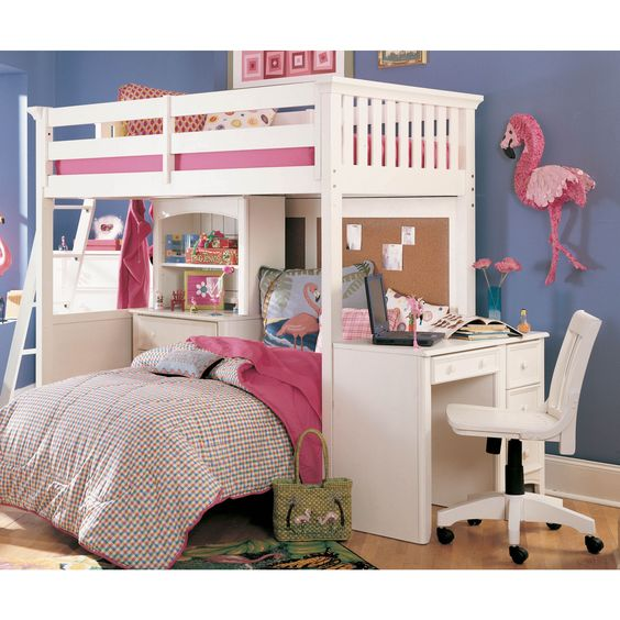 possible idea for the girls bunk bed put a queen on bottom for 2 girls sisters pinterest. Black Bedroom Furniture Sets. Home Design Ideas