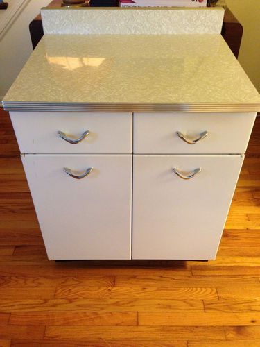 Vintage Retro Metal Kitchen Cabinets Mid 50's Great Shape Formica ...