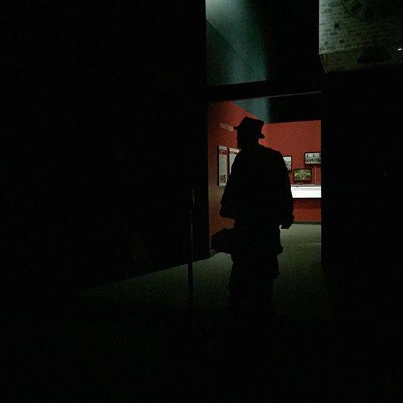 @nationalczechslovakmuseum The 'Faces of Freedom' exhibit after the lights go out. A little spooky! #NCSML #museumlife #cedarrapids #cedarrapidsiowa #exhibit #museum #creepyexhibit #facesoffreedom #czech #slovak #nightmaresfordays #readyforhalloween #creepyshadowguy