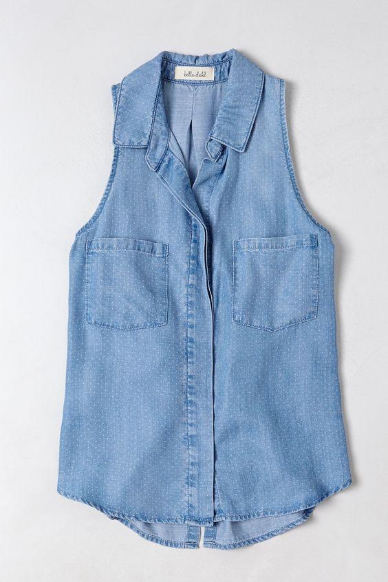 Pindot Chambray Shirt