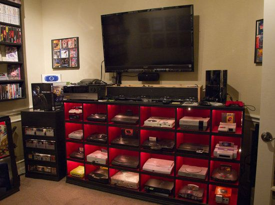 Gaming Man cave (very cool & very organized!)