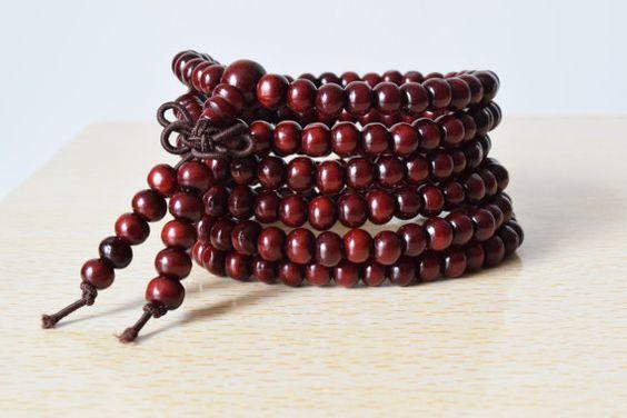 216 Mala Beads Mala Bracelet Wood Beads Wood Bracelet от MalaGifts