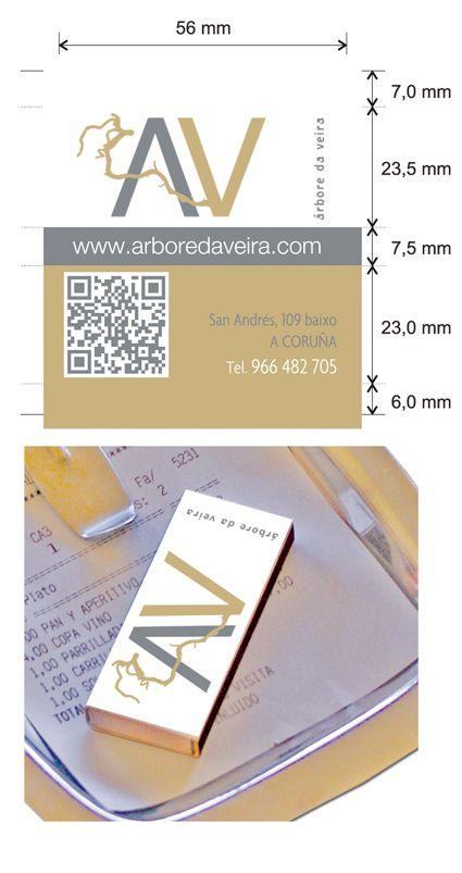 Dise o cajas de cerillas para el restaurante arbore da for Botic hotel