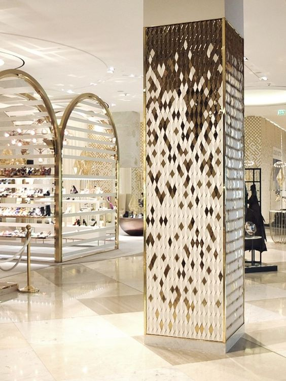 interior design columns - olumns, Dubai and Dubai mall on Pinterest