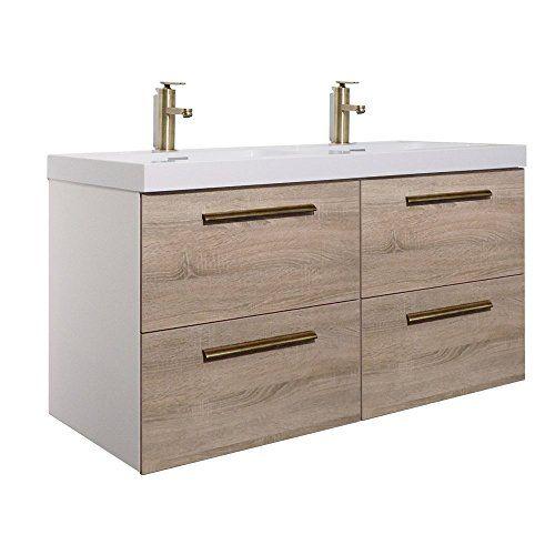 Randalco 48 Inch Double Bathroom Vanity Cabinet Set Floating