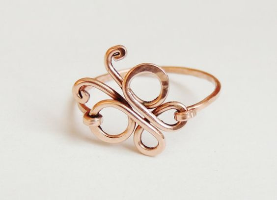 tamaño personalizado de mariposa cobre alambre anillo por keoops8