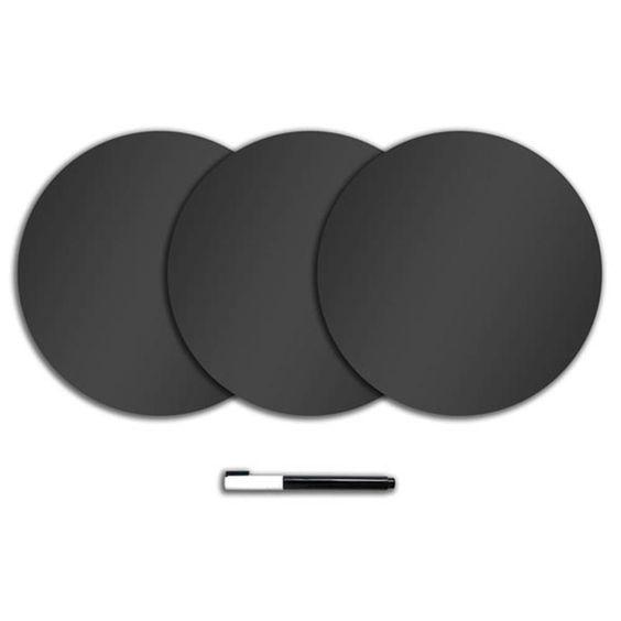 Charcoal 3-sheet Dry Erase Dot Decals - $17.99