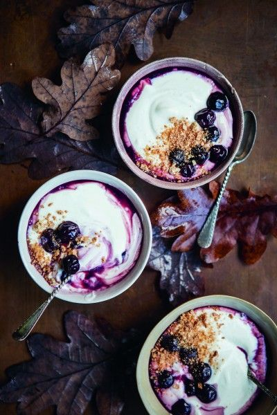 Whipped Ricotta with Rum and Fresh Berry Compote ( Ricotta Montata con Rum e Composta di Bacche)  This glorious marriage of flavours has been around for centuries in Italy. It soothes with its cuddle of creamy sweetened ricotta. .....
