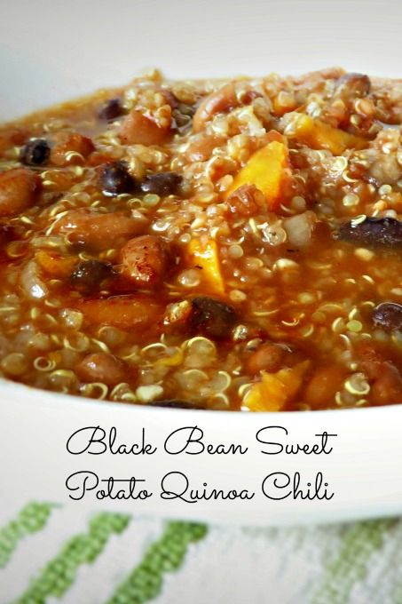 ... Chili that is loaded with superfoods like black beans, sweet potatoes