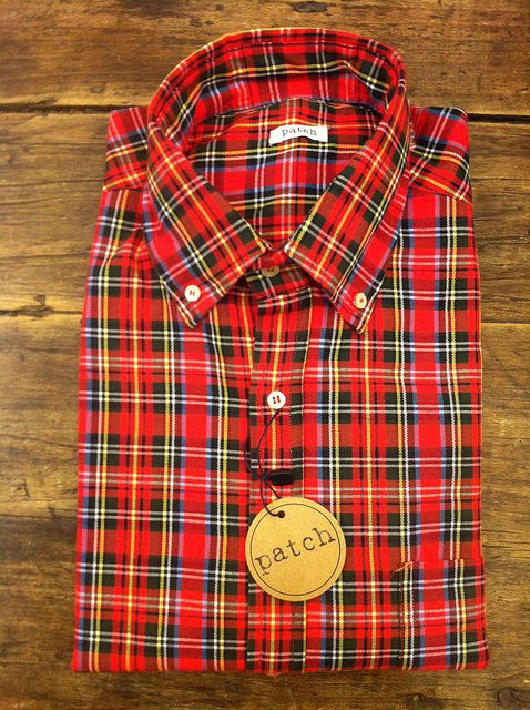 camisa cuadros roja patch  2012 collection