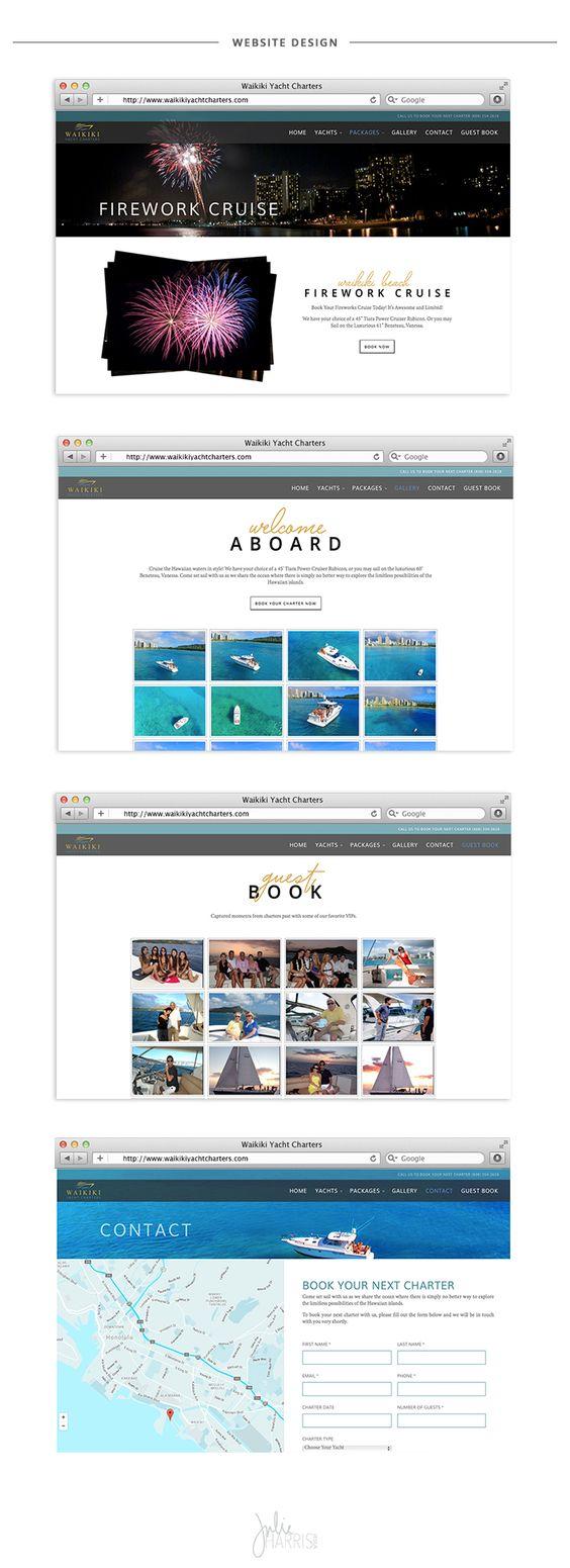 Waikiki Yacht Charters Website Design and Development by Julie Harris Design