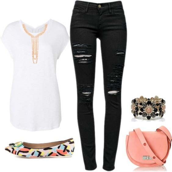 Casually Ripped! Simple but cute