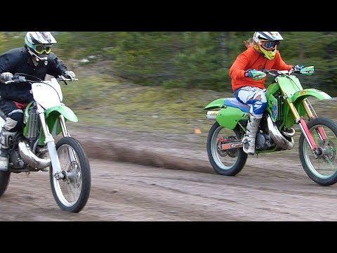 Two Stroke Wheelies Kawasaki Kx250 Kdx200 Ktm300 Youtube