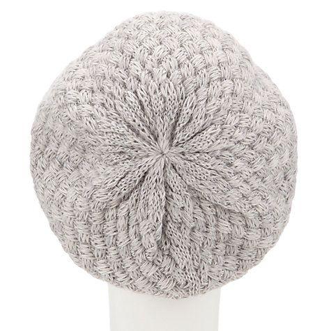 Buy John Lewis Basket Weave Beanie, Grey Online at johnlewis.com