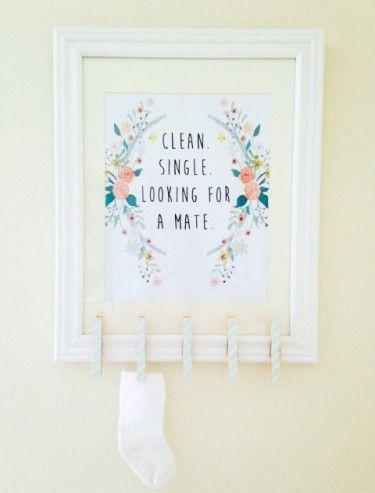 4 FREE Laundry Room Art Printables--Absolutely LOVE this! You always have missing socks from the Sock Monster!: