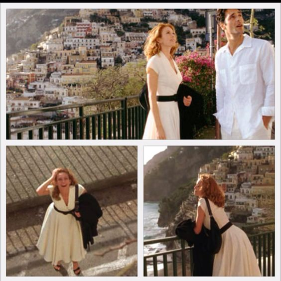 "Retro white dress Diane Lane wore in ""Under the Tuscan Sun"".:"