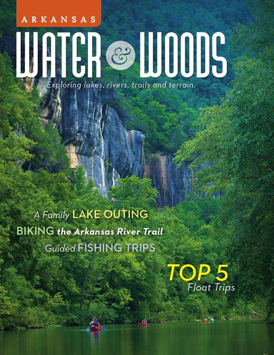 Arkansas Water & Woods  Arkansas is a place that beckons you outside. Adventures are as wildly diverse and beautifully varied as the terrain you'll discover here – rolling hills, lush timberlands, sparkling lakes and pristine rivers. It's in these scenic woodlands and on these world-class waters that you can breathe, relax, roam, explore and play. Arkansas Water and Woods offers an inside look at outdoor activities in The Natural State.