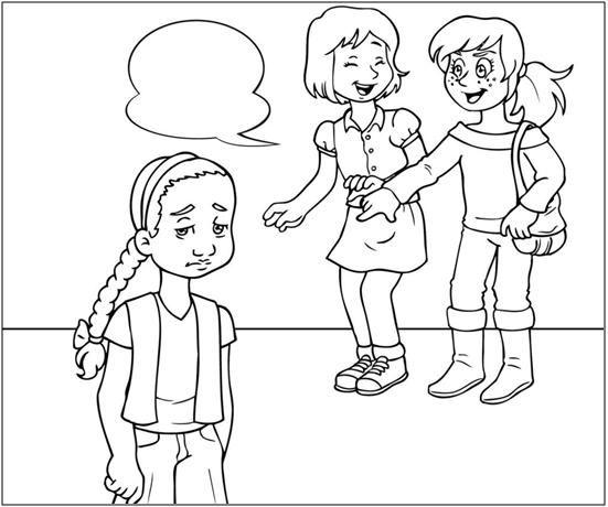 Dibujos Para Colorear Sobre El Bullying Imagui Kids Church Bullying Kids