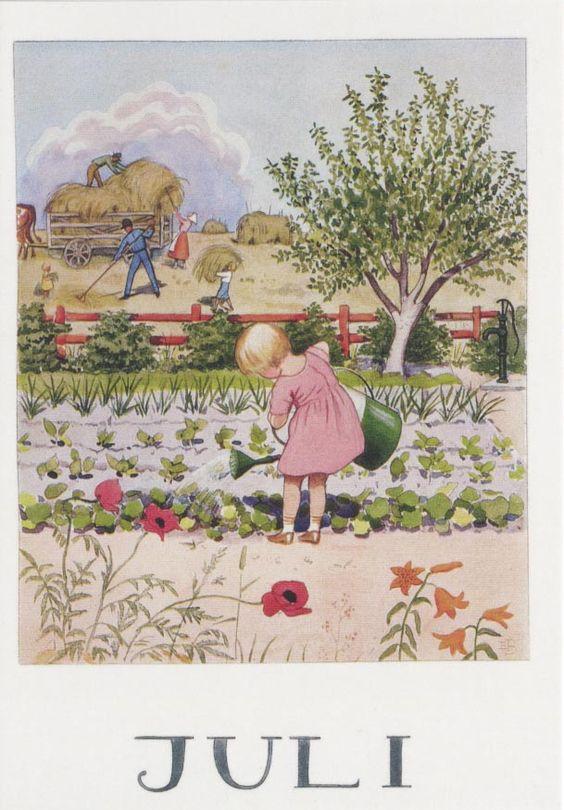 Elsa Beskow - Swedish (1874-1953) vintage postcard.: