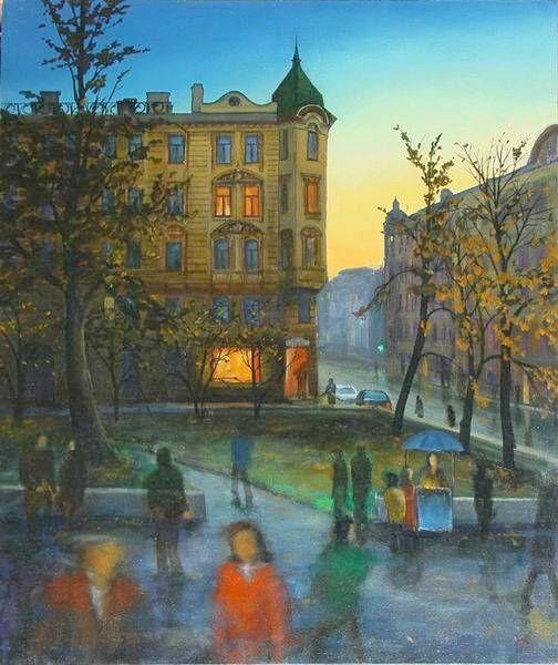 "Nikolay Bogomolov — ""Kingdom of Light"", oil on canvas, 80*70 сm, 2001 / Saint Petersburg, Russia"