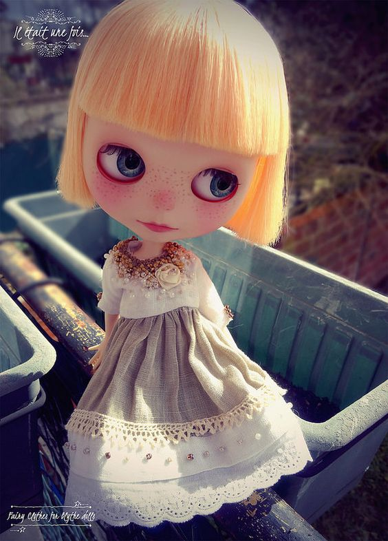 Clara in a new dress...