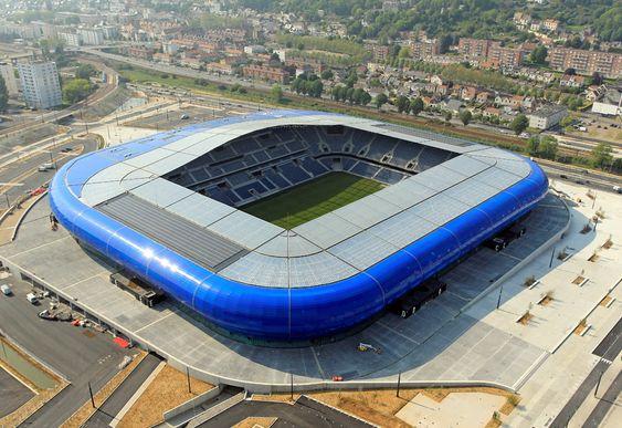 Stade Océane, ubicado en Le Havre, Francia. Capacidad 25,178. Equipo local Le Havre AC.