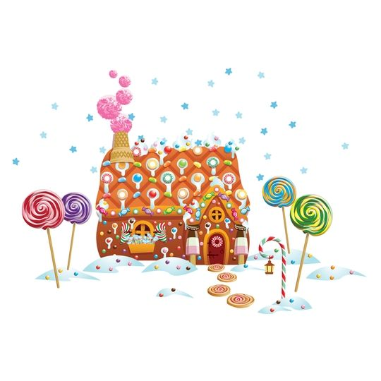 Gingerbread House Christmas Wall Decals by WallCandy Arts $36