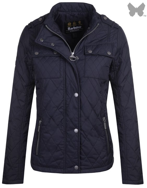 Barbour International Ladies' Dera Gairlochy Quilted Jacket - Navy