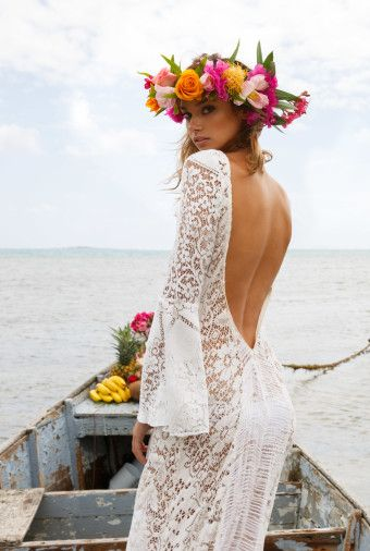 Tropical blog and brides on pinterest for Local wedding dress designers