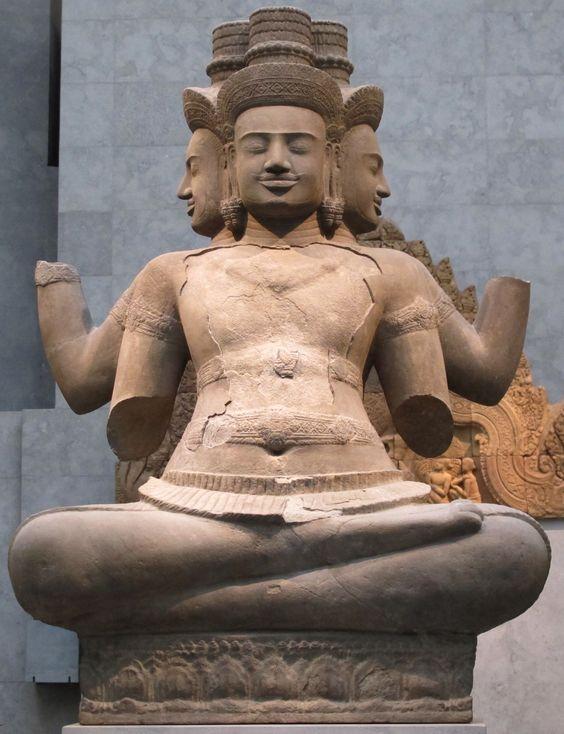 File:Cambogia, brahma, da dintorni di vat baset, stile di koh ker ...