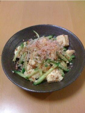 豆腐ときゅうりの梅ごまサラダ