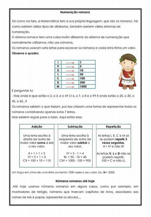 Algarismo Romano Lista De Atividades Com Numeros Romanos Check