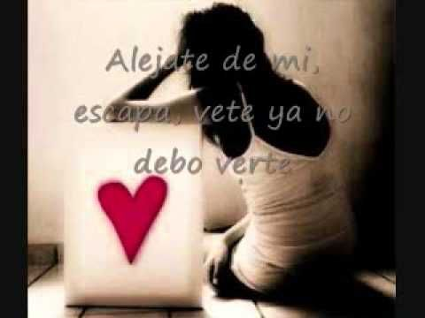 Alejate De Mi- Camila letras (lyrics) - YouTube