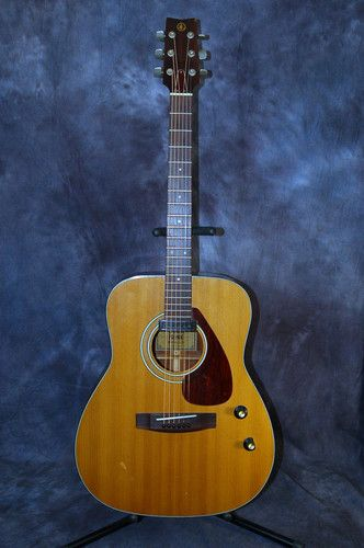 Electric guitars acoustic and guitar on pinterest for Yamaha acoustic guitar ebay