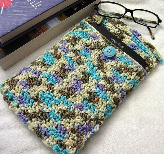 Hand Crocheted Kindle Kover by AngelsWingsCreations on Etsy