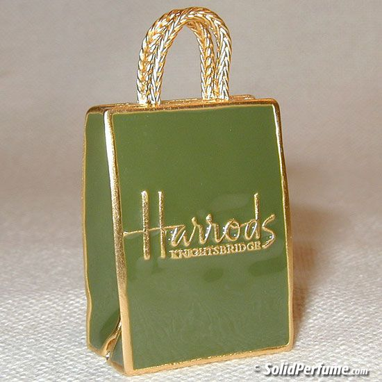 Harrod U0026 39 S Ping Bag In Green U0026amp Gold