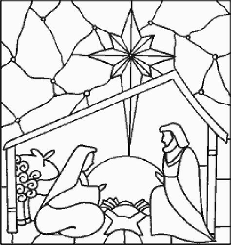 Nativity Manger Scenes Coloring Pages Nativity Scene Coloring
