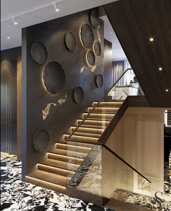 Amazing Luxury Interior Design That Will Make Your Home Inspiration Home Stairs Design Staircase Wall Decor Stairway Design