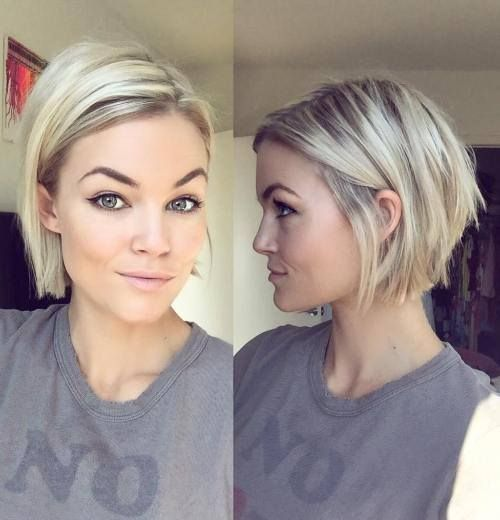 Mind Blowing Short Summer Hairstyle For Fine Hair Http Niffler Elm Tumblr Com Post 15740046 Hair Styles Short Straight Bob Hairstyles Straight Bob Hairstyles