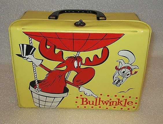 Bullwinkle Lunch Box (Vintage 1960 Vinyl Lunchbox Collectible, Rocky)