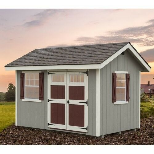 Woman Cave 8 X 12 Ft D Wood She Shed W Panelized Wall Sections And Hardware Ezfitsheds Building A Shed Wood Shed Plans Wooden Storage Sheds
