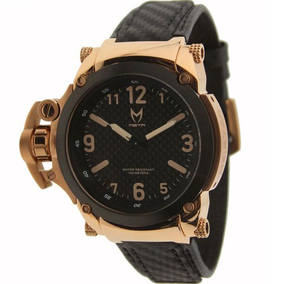 Meister commander with carbon fiber band watch in rose for Commander rose